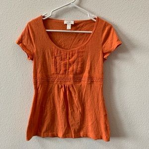 Ann Taylor LOFT orange short sleeved top